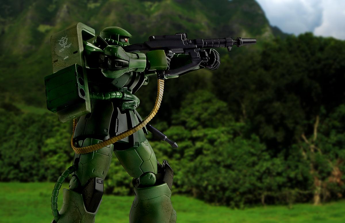 THE ORIGIN HG MS-06C ザクII C型/C-5型 レタッチ ガンプラ 手順