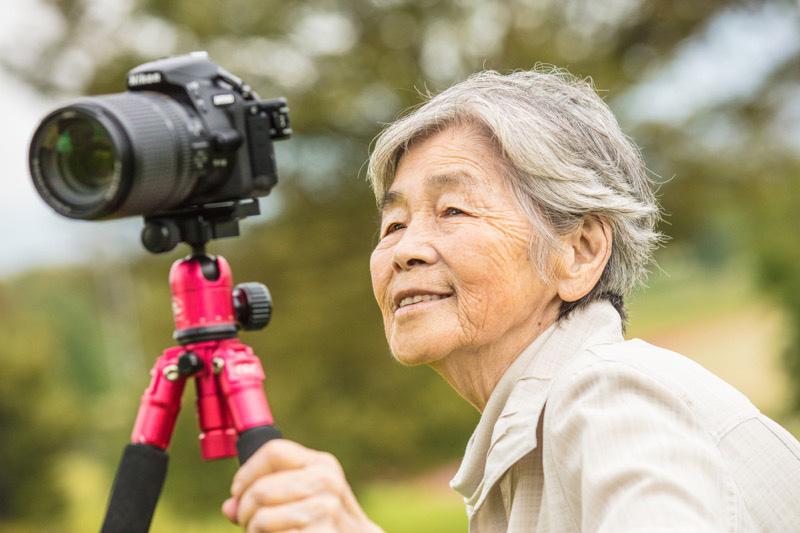 Photoshopフォトショップ おばあちゃん 西本喜美子