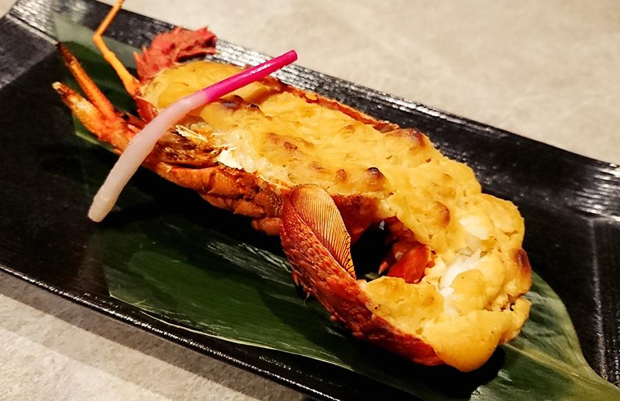 夕食 伊勢海老の西京味噌焼き