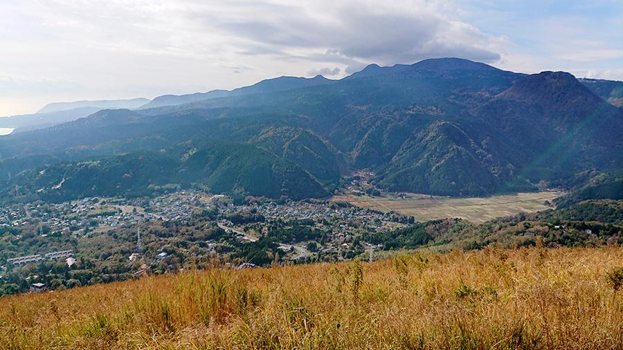 大室山の山頂からの景色
