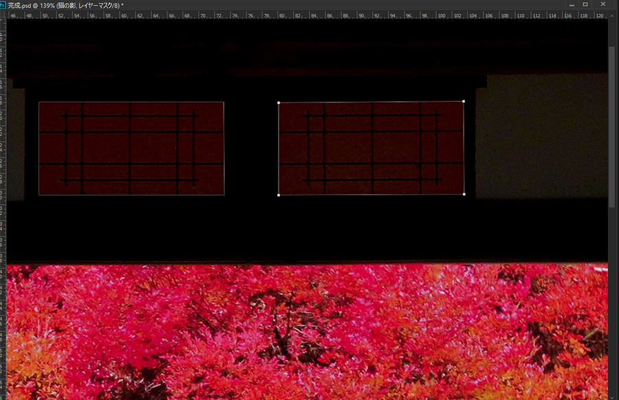 Photoshop フォトショップ レタッチ 小窓 明るく