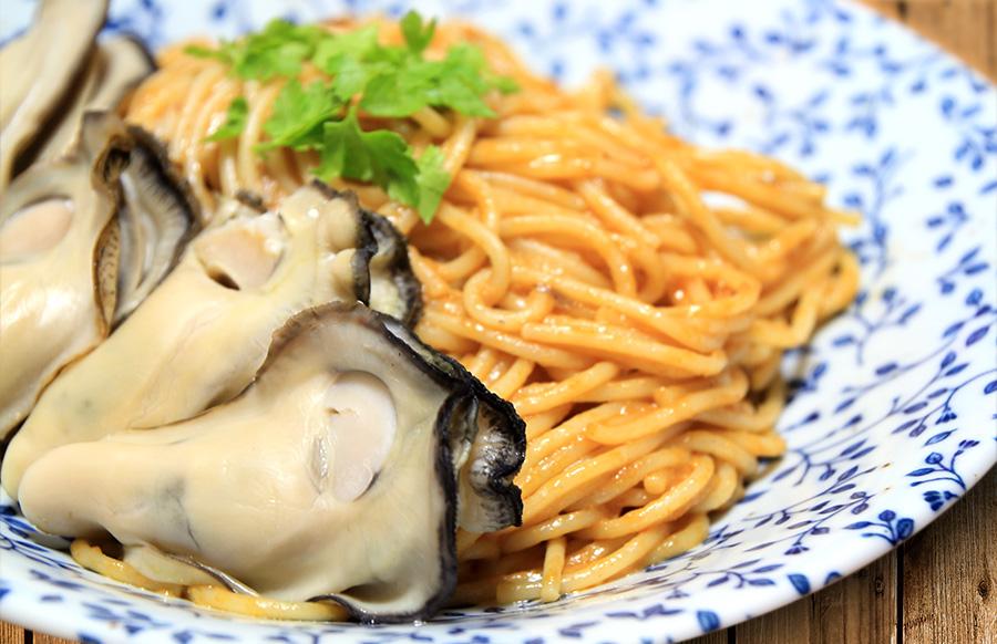 牡蠣のパスタ