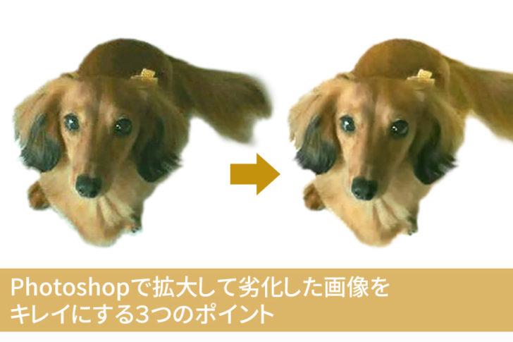Photoshopで拡大して劣化した画像をキレイにする3つのポイント