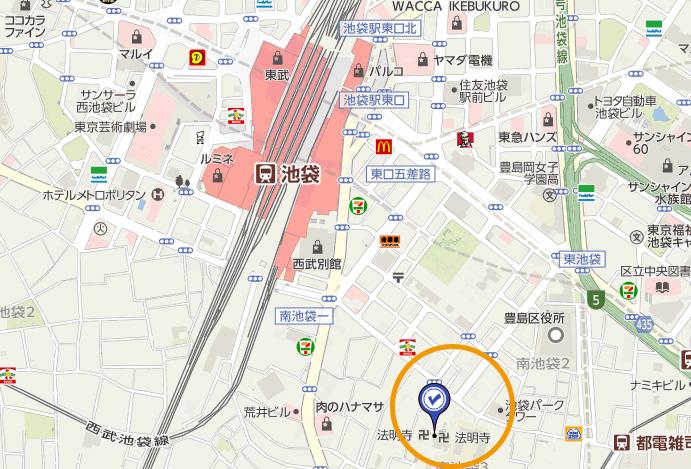 法明寺 地図